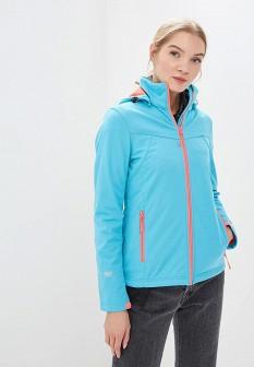 Женская голубая осенняя спортивная куртка