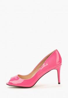 Женские розовые осенние кожаные лаковые туфли