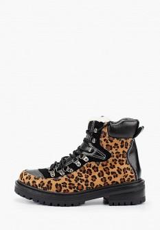 Женские коричневые кожаные ботинки на каблуке на платформе