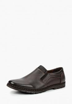 Мужские коричневые осенние кожаные туфли лоферы
