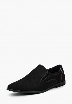Мужские черные туфли лоферы