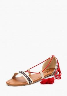 Женские бежевые сандалии Isteria
