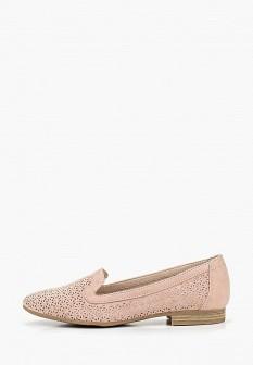 Женские розовые осенние туфли лоферы