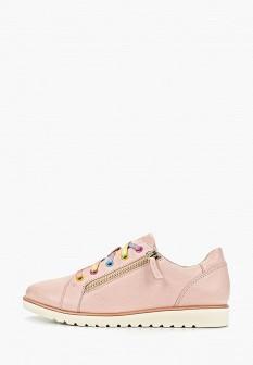 Женские розовые кожаные ботинки