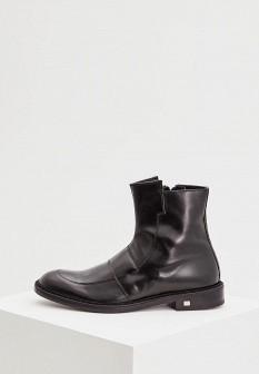 Мужские черные итальянские осенние кожаные ботинки