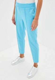 Женские голубые осенние брюки спорт