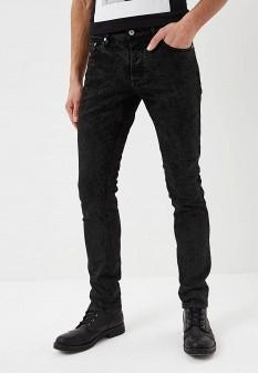 Мужские черные джинсы слим