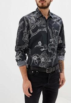 Мужская черная осенняя рубашка