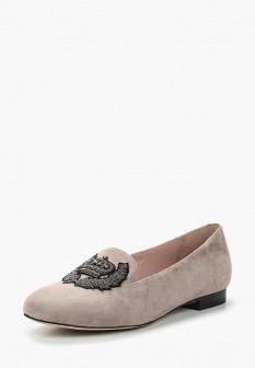 Женские серые туфли лоферы