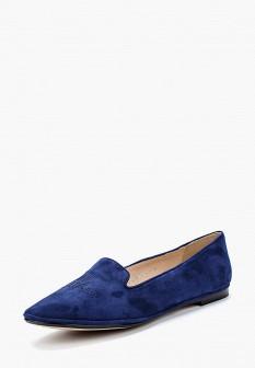Женские синие осенние туфли лоферы