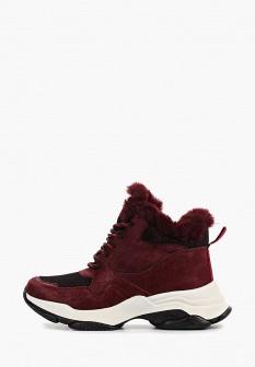 Женские розовые осенние кожаные ботинки