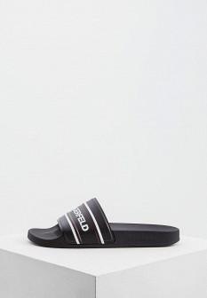 Мужские черные итальянские кожаные сандалии