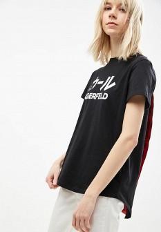 Женская черная футболка Karl Lagerfeld