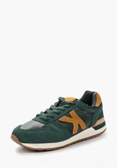 Женские зеленые осенние кожаные кроссовки