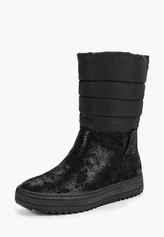 Женские черные осенние кожаные сапоги