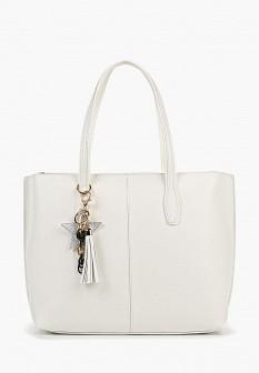 Женская белая кожаная сумка KEDDO