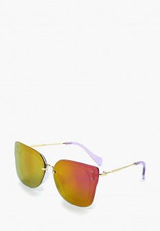 Женские фиолетовые осенние солнцезащитные очки