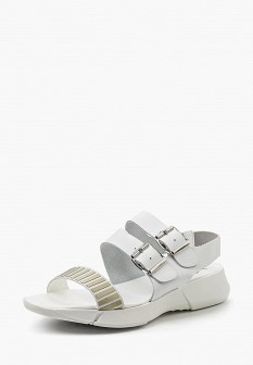 Женские белые испанские кожаные сандалии