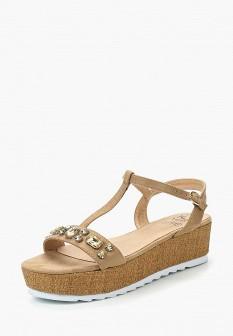Женские бежевые сандалии
