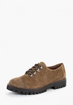 Женские коричневые испанские осенние ботинки на каблуке