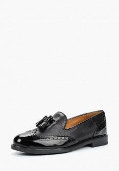 Женские черные испанские лаковые туфли лоферы
