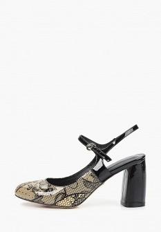 Женские бежевые осенние кожаные туфли на каблуке