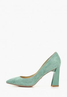 Женские бирюзовые туфли на каблуке