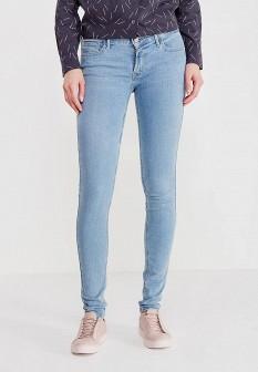 Женские голубые джинсы skinny