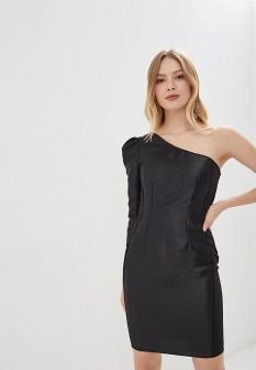 Черное осеннее платье