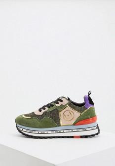 Женские зеленые осенние кроссовки
