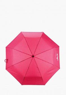 Женский розовый складной зонт