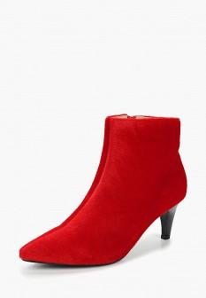 Женские красные осенние ботильоны на каблуке