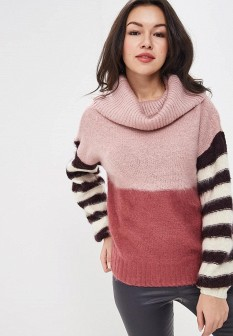 Женский розовый свитер LOST INK