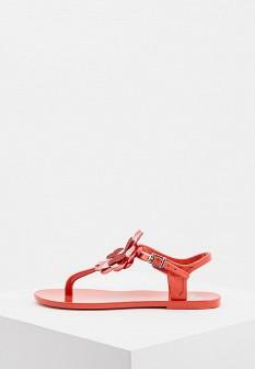 Женские красные итальянские сандалии