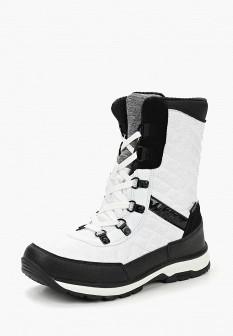 Женские белые осенние кожаные ботинки