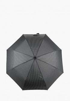 Женский черный складной зонт