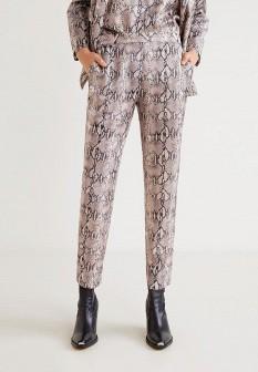 Женские бежевые брюки Mango