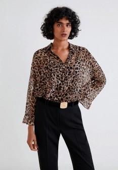 Коричневая блузка Mango