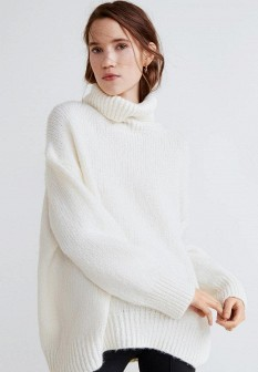 Женский белый свитер Mango