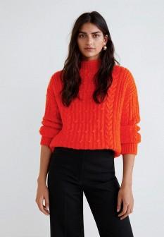 Женский оранжевый свитер Mango