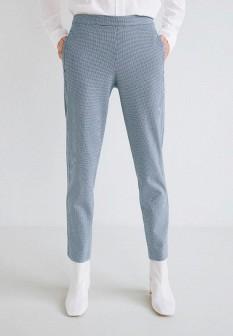 Женские голубые брюки Mango