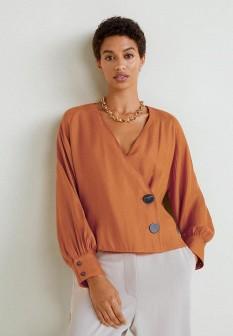 Оранжевая блузка Mango