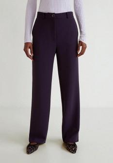 Женские фиолетовые брюки Mango