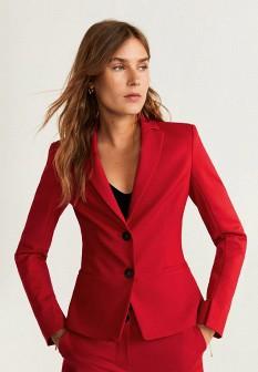 Женский красный осенний жакет