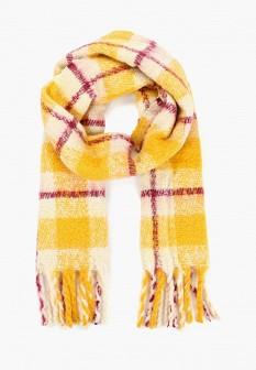 Женский желтый шарф Mango