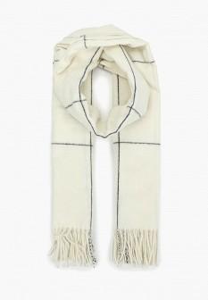 Женский белый шарф