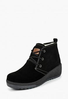 Женские черные осенние ботинки на платформе