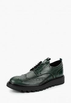 Мужские зеленые осенние кожаные туфли