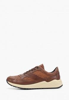 Мужские коричневые осенние кожаные кроссовки