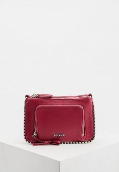 Женская красная кожаная сумка